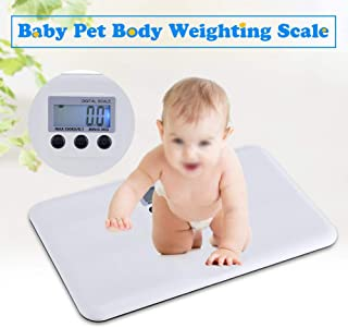 HEREB - Báscula digital para mascotas, función de encendido/tara, alarma de bloqueo de batería baja, báscula electrónica para el hogar mascota bebé
