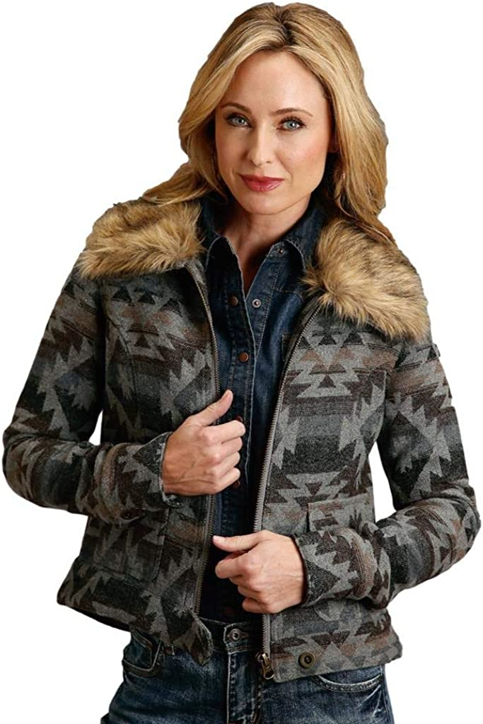 Stetson Women's Grey Aztec X-Large At Limited price sale the price of surprise Print Jacket