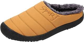 LONGDAY Slip On House ShoesWomen's Comfort Memory Foam Slippers with Warm Fleece Lining and Wool-Like Collar
