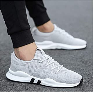 SKLT Men's Shoes Lightweight Sports Shoes Breathable Non-Slip Casual Shoes Adult Fashion Shoes Black