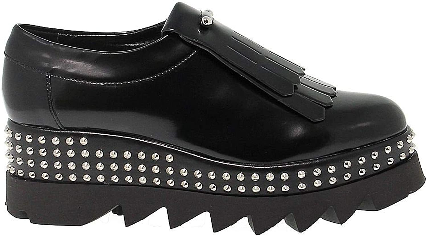 CULT Women's CULT102610 Black Leather Lace-Up shoes