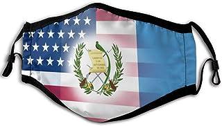 Máscara de media cara reutilizable de la bandera de Haití americana, antipolvo y cortavientos, para exteriores