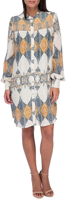 Bobeau Womens ButtonDown CamiInset Shirtdress