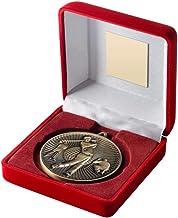 "Lapal Dimension Rode Fluwelen Doos En 60mm Medaille Golf Trofee - Antiek Zilver - 4"""