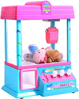 TOYMYTOY ミニドールグラバープライズクローマシンキッズ用電子玩具グラバーマシン(ピンク、電池なし、人形なし)