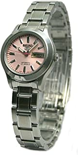 Seiko Women's SYMD91 Stainless Steel Analog with Pink Dial Watch