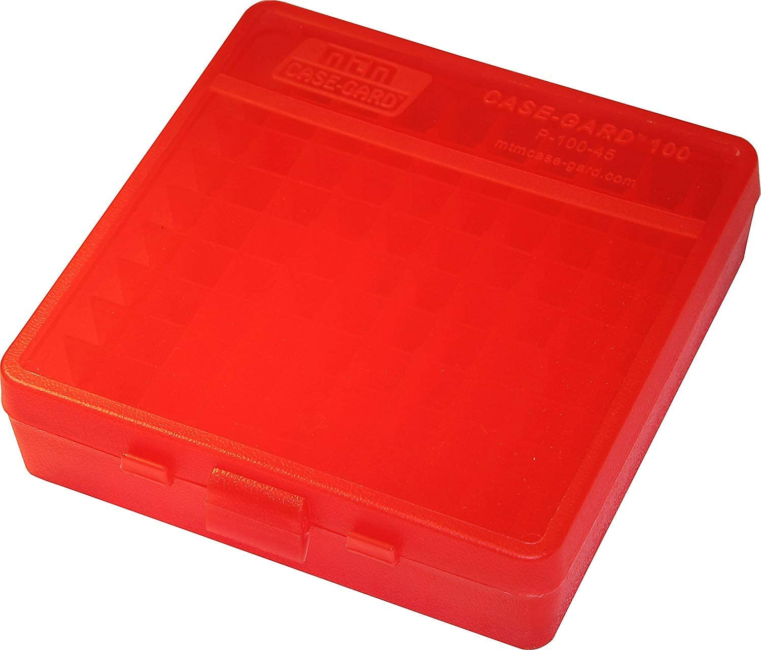 MTM Plastic Ammo Box Clear RED 40 45 Round SW 100 San Diego Mall New popularity ACP