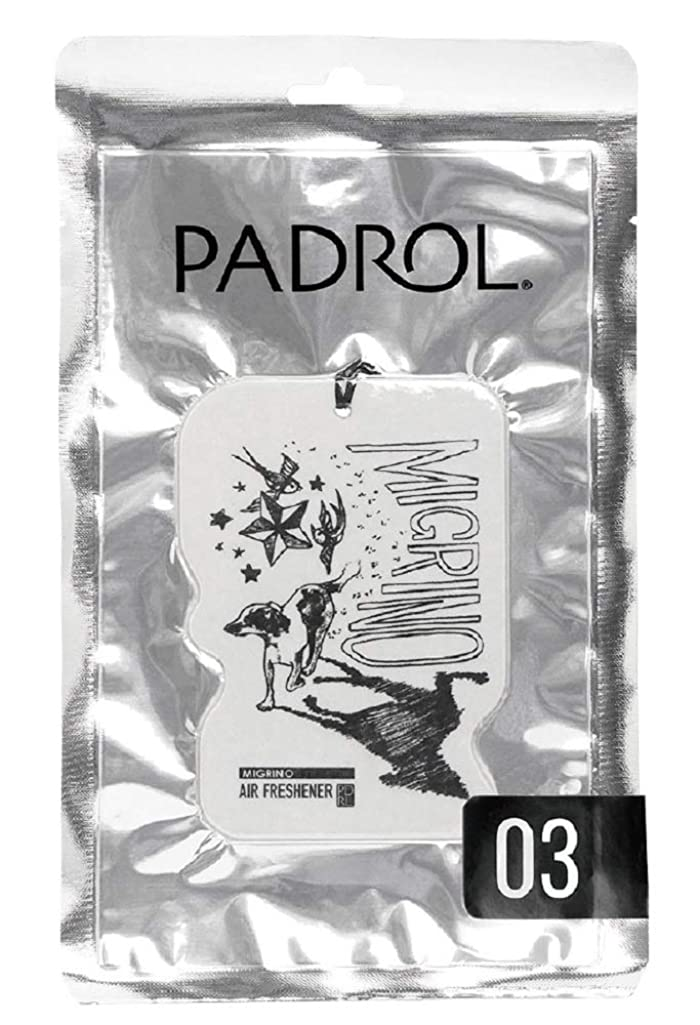 ペン親指暴力ノルコーポレーション ルームフレグランス エアーフレッシュナー パドロール 吊り下げ MIGRINO PAD-5-03 ベルガモットの香り 1枚