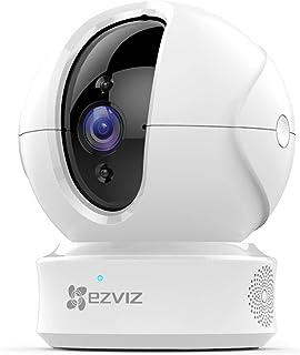 EZVIZ Cámara de vigilancia WiFi interior 1080p PTZ cámara de Seguridad con visión nocturna auto seguimiento de movimiento monitor de bebé audio bidireccional funciona con Alexa WiFi 2.4G Modelo CTQ6C