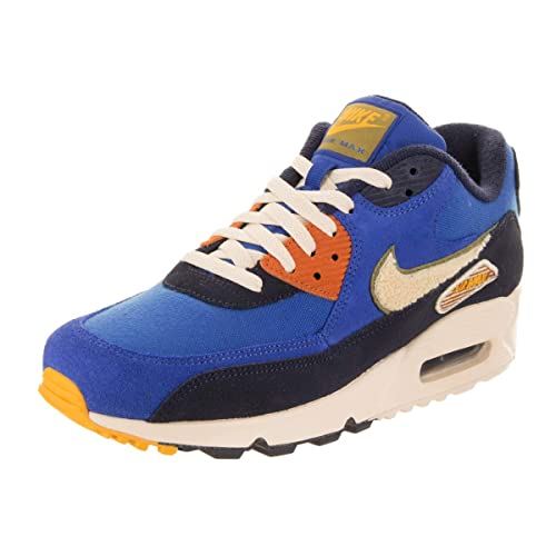 quality design 46df5 45d7a Nike Men s Air Max 90 Premium SE Running Shoes, Game Royal Light Cream-
