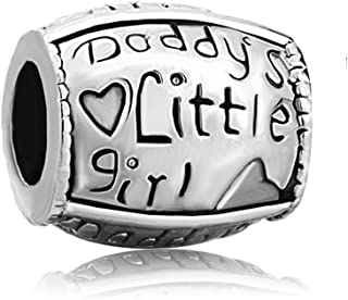 Daddy's Little Girl Family Love Beads Christmas Gifts Sale Fit Pandora Charm Bracelets