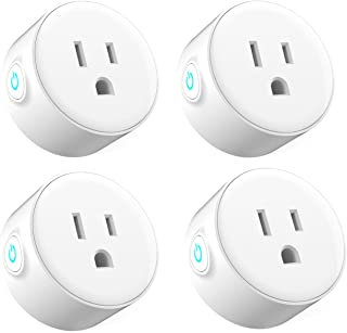 Ubetta WIFI Smart Plug Mini Socket Outlet Compatible with Alexa Echo and Google Assistant No Hub Required Remote Control Your devices by Smart Phone (4 pack)