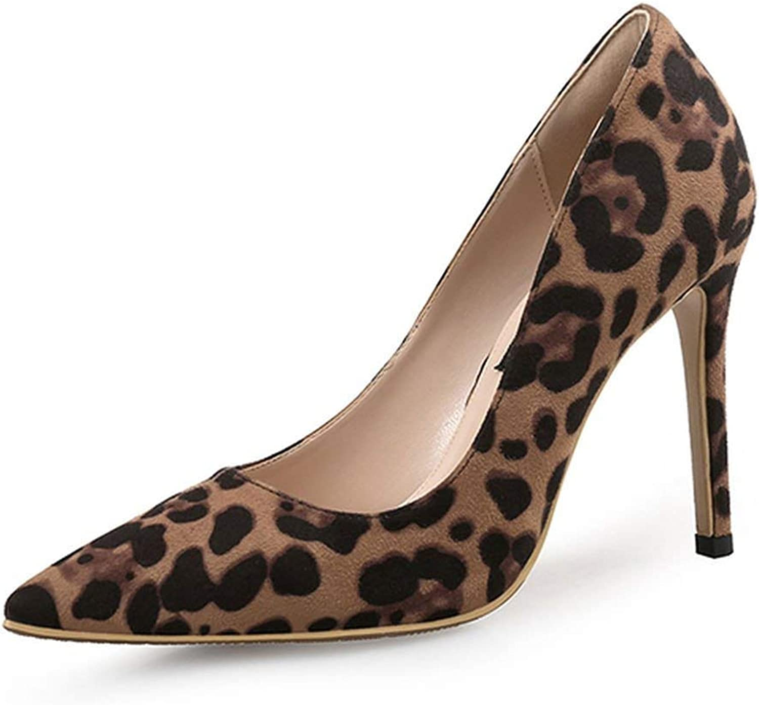 Heeled-Sandalssexy Women Pumps High Heels shoes Spring Leopard Thin Heels Woman Party shoes Plus Size Pointed Toe Single Female Pumps 45,Basic 6Cm,6