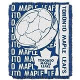 NORTHWEST NHL Toronto Maple Leafs Woven Jacquard Throw Blanket, 48' x 60', Double Play