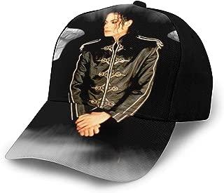 Mic-hael Jac-kson Teen Cool Adjustable Baseball Cap Sun Hat Golf Cap Polo Hat Black