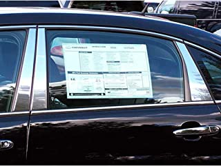 QAA FITS Impala 2006-2013 & Impala Limited 2014-2017 Chevrolet (6 Pc: Stainless Steel Pillar Post Trim Kit, 4-Door, Note: Please See Photo for Coverage) PP46136