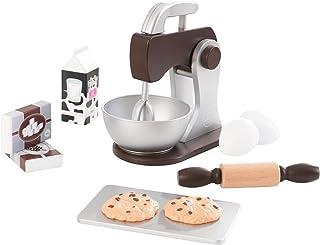 KidKraft 63370 set för spel leksaker för matlagning och bakning, espressfärg