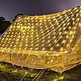 Hengda LED Lichternetz 3 * 2 Meter 220v für Weihnachten Deko Party Festen, Innen, Lichter Netz mit 8 Lichtwechselprogramme