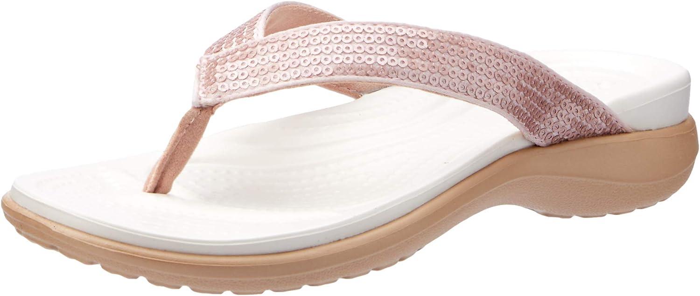 Crocs Milwaukee Mall womens Capri low-pricing V Sequin for Flops Sandals Flip Women