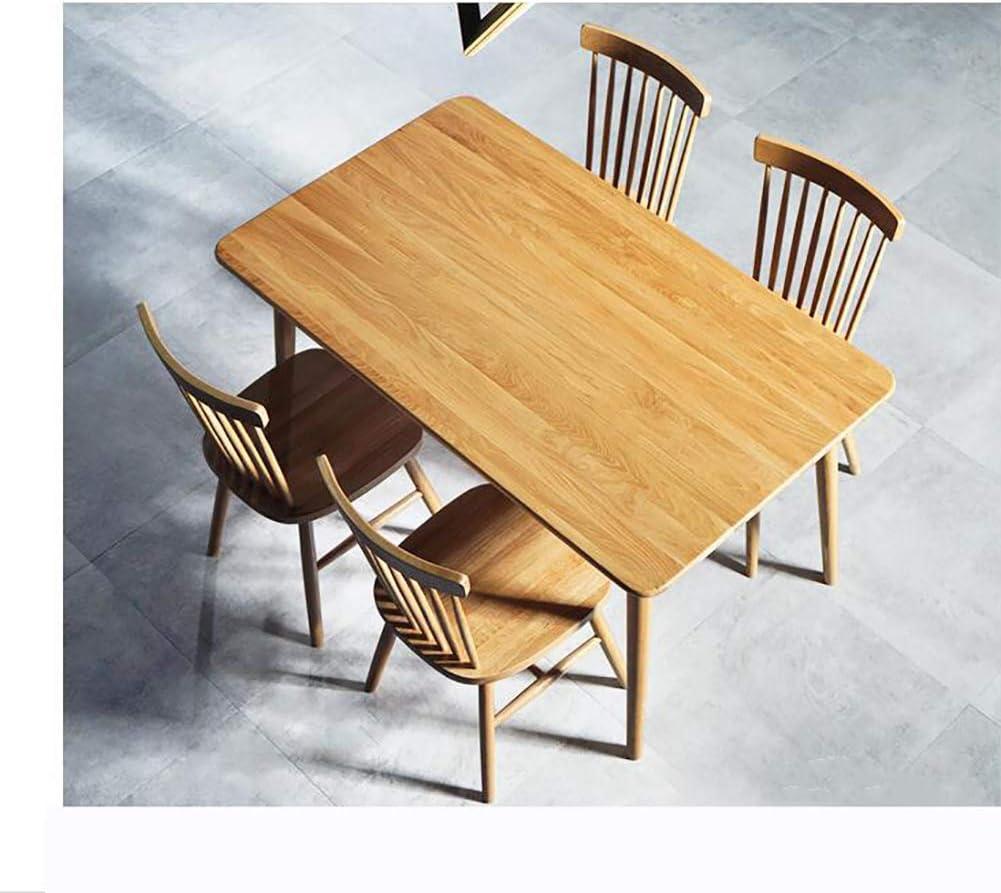 LRXGOODLUKE Chaise en Bois Massif, Style européen Simple et Simple Nordique Chaise Windsor White Oak Salle à Manger Chaise Moderne Chaise,Woodcolor Walnutcolor