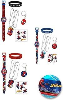 Generico Montre bracelet numérique + accessoires Spiderman Marvel pour homme, salle de bain en boule, MV15778