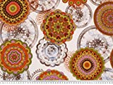 Zanderino ab 1m: Bunter Dekostoff, Blumen-Ornamente,