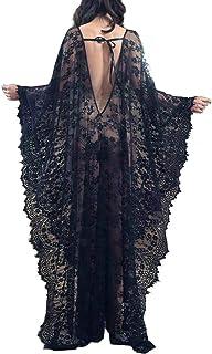 Bikini Cover up Robe Women Boho Beach Wears Black Eyelash...