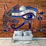 Papel Pintado 3D Murales Ojos egipcios- Fotomurales Para Salón Natural Landscape Foto Mural Pared, Dormitorio Corredor Oficina Moderno Festival Mural 150x105 cm - 3 tiras