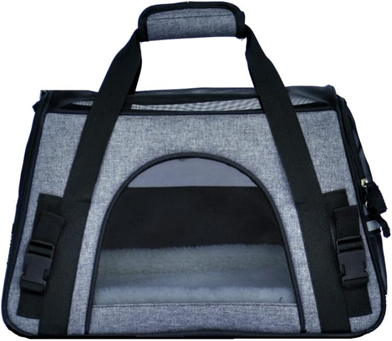 Cat and Dog Pet Handbag Oxford Cloth Travel Outdoor Transparent Breathable Pet Shoulder Bag Pet Nest, Mountain Climbing, Shopping ZHANGOR