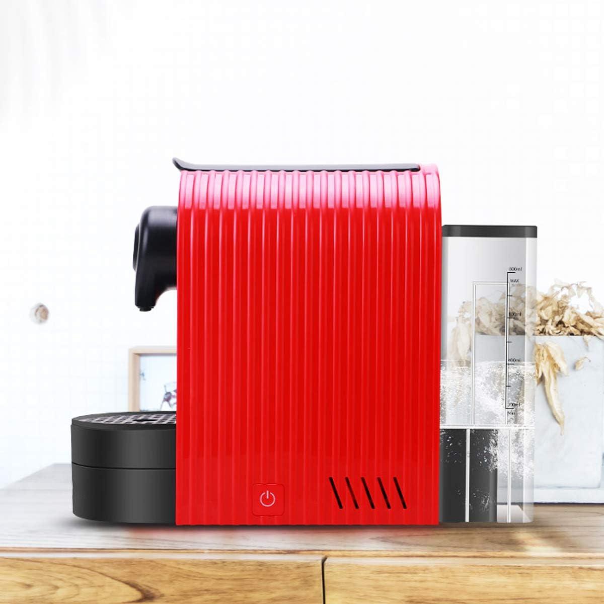 Bospyaf Machine À Café À Capsules Automatique Petite Mouture Machine À Café De Bureau Portable Italienne Intégrée,Blanc Red