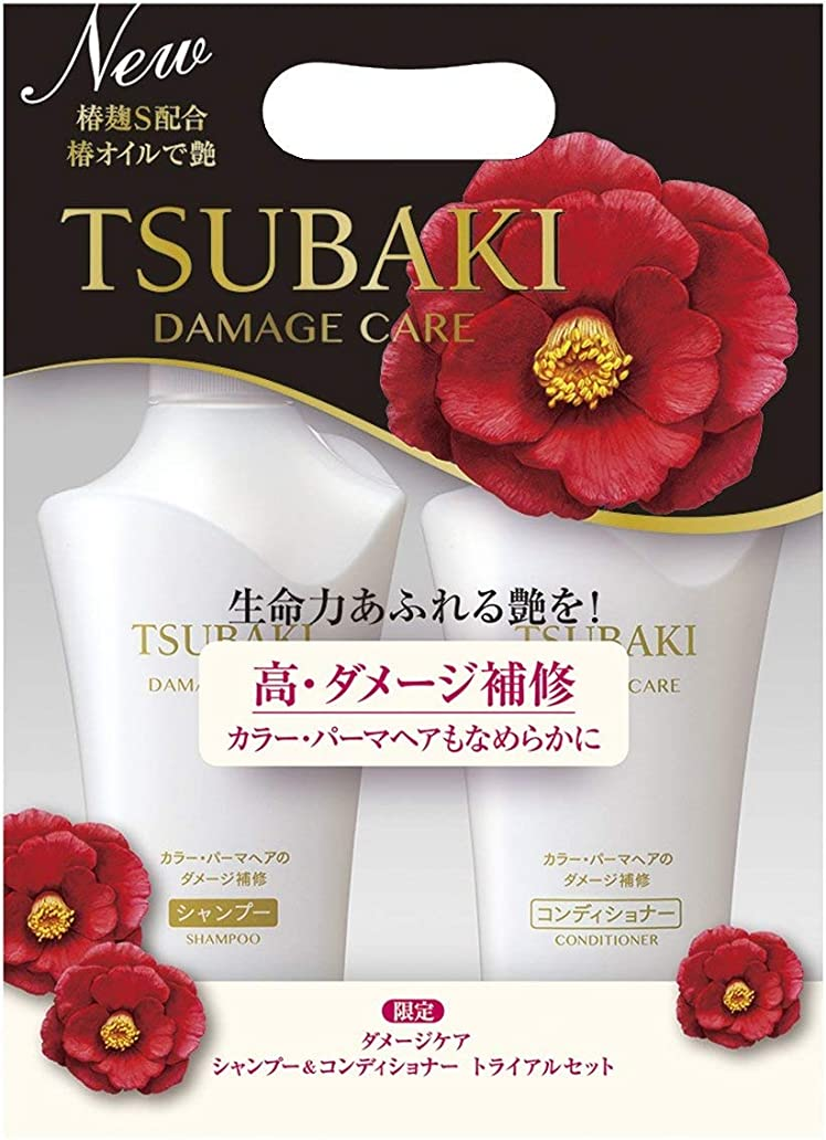 ルー舌寄付するTSUBAKI ダメージケア シャンプー&コンディショナー ジャンボペアセット (500ml+500ml)