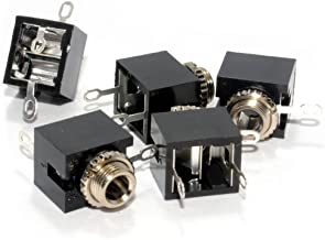 kenable 3,5 mm 3 Pértiga Estéreo Conector Jack Enchufe Soldar Chasis Montar [5 Empacar]