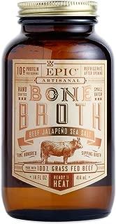 Epic Artisanal Sipping Bone Broth (Beef Jalapeno Sea Salt)