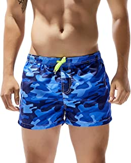 Sharemen Mens Camouflage Swim Trunks Pants Swimwear Shorts Slim Wear Beach Shorts