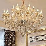 MJK Lámpara de techo novedosa, lámpara de araña de sala de estar de estilo europeo, lámpara de araña de restaurante, dormitorio, villa de lujo, lámpara de pie de ático de hotel atmosférico, lámpara d
