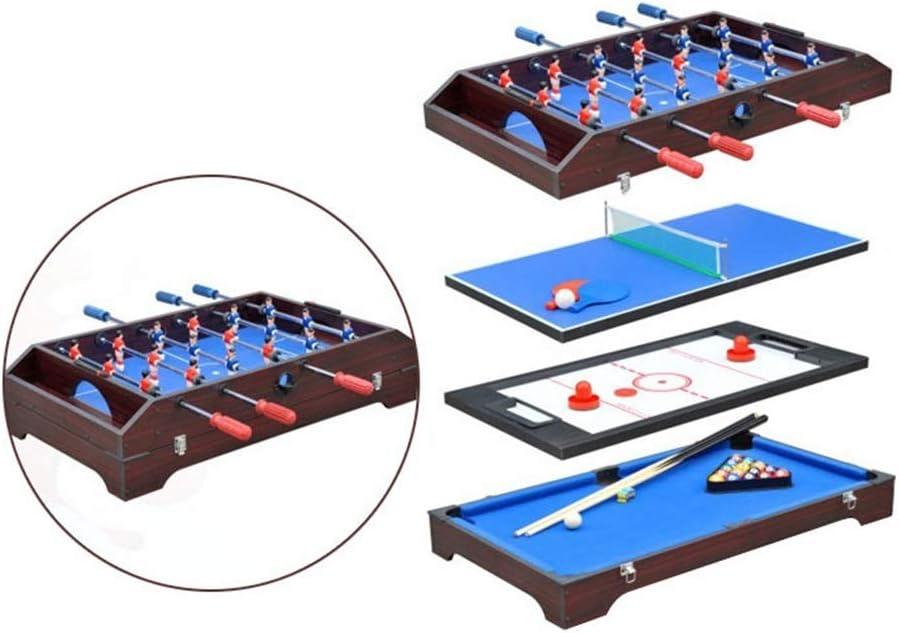 LCRACK 4 En 1 Multi Combo Sport Table, Máquina De La Diversión Durable Operación Fácil Campo De Billar, Campo De Fútbol, Hockey sobre Hielo, Ping Pong