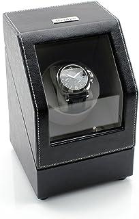 [ON Sale] Heiden Battery Powered Single Watch Winder in Black Leather