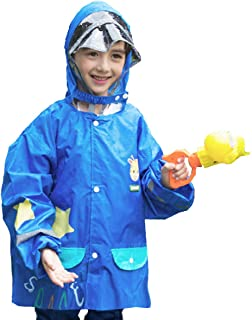 TRIWONDER Raincoat Rain Cape Ponchos for Kids, Girls, Boys, Poncho Jacket Gear with Backpack Position