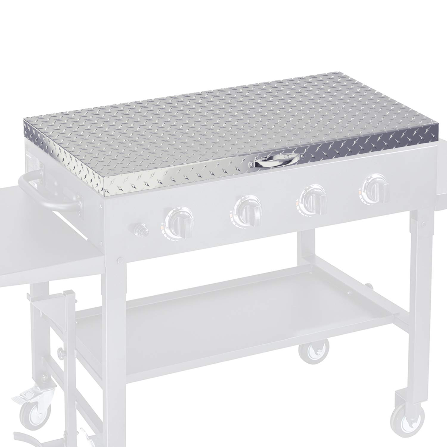 Griddle Cover 36 Inch Works For Blackstone Grill 36in Flat Top Gas Cooking Station Hard Cover Lid With Waterproof Aluminum Diamond Plate Stainless Steel Handle For Outdoor 36inch Bbq Hood Accessories Amazon Sg