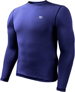 Mens Base Layer Tops Tech Long Sleeve Athletic T Shirts for Men