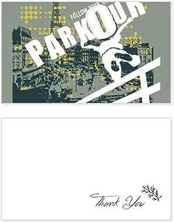 Graffiti Street Hip-Hop Paris Pattern Thank You Card Birthday Wedding Business Message Set