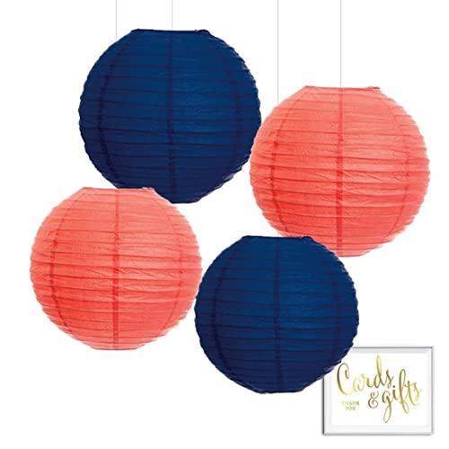 Navy And Coral Decor Amazon Com