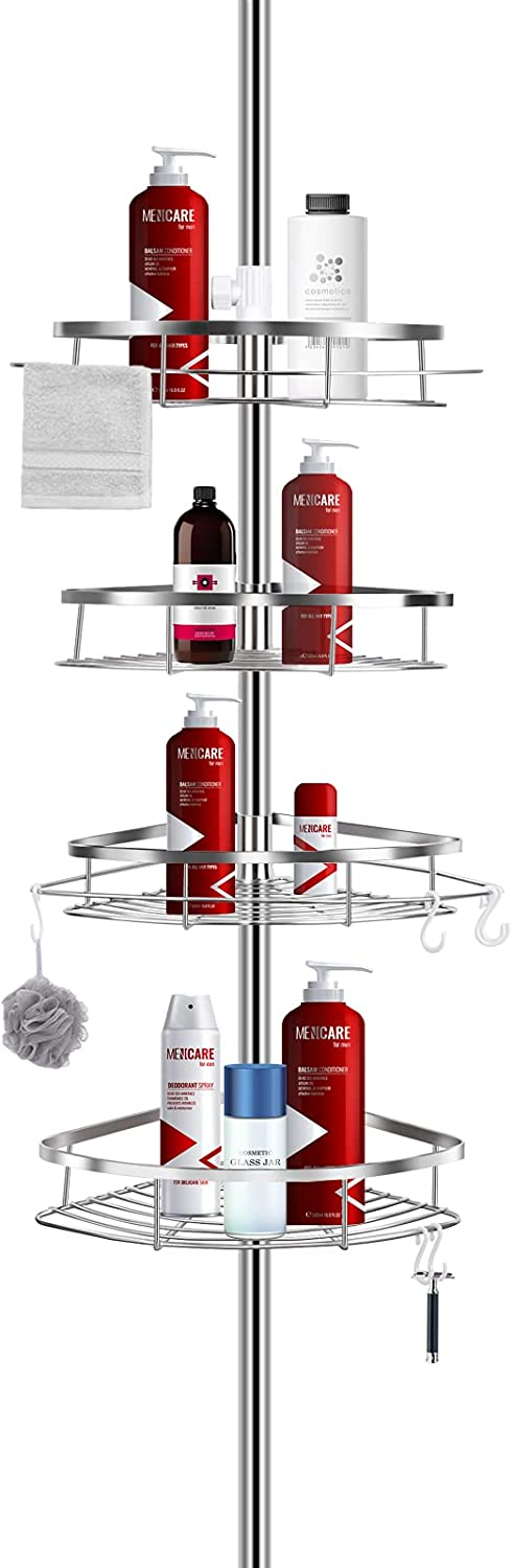 ShowerCaddy LIBZAKI Shower Corner Pole Tension Caddy Sales of SALE items from new Popular shop is the lowest price challenge works Rustp