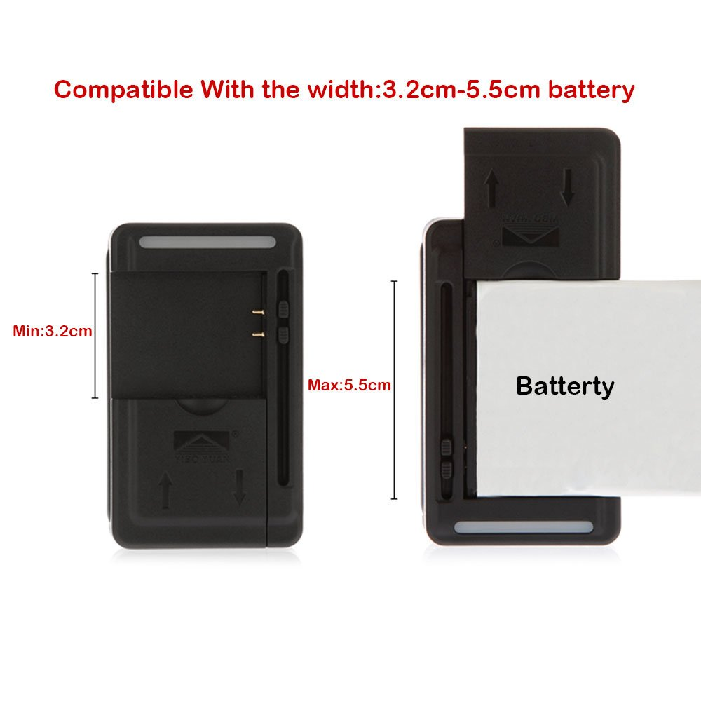 2× New EB-L1K6ILA Battery & Universal Charger For Samsung Galaxy S Relay 4G T699 Stratosphere II 2 i415
