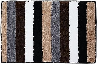 Bath Rugs Doormats Absorbent Soft Floor Mat,Anti-Skid Doormats,Strip Bathtub Rug,23.62×15.75 Inches,Coffee