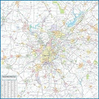 Atlanta Metro Area Laminated Wall Map