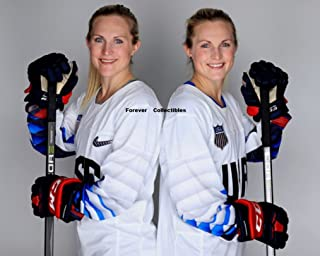 Olympics 2018 Photo 8x10 Hockey Women Team USA Lamoureux Twins Monique and Jocelyn Winter PyeongChang