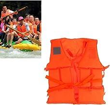 BOVER BEAUTY 1PC Swimming Life Vest Life Jackets Boating Flotation Fishing Drifting Ski Aid Lifesaving Jacket Orange XL