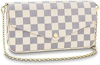 Women's Chain Wallet, Detachable Chain Wallet Clutch, Fashion Crossbody Shoulder Bag, Canvas Wallet. (White)