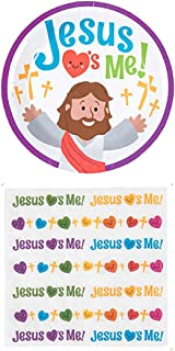 Charmed By Dragons Jesus Loves Me Party Supplies for 16 People: Dessert Plates and Napkins